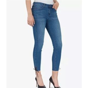 William Rast Lace Up Ankle Skinny Jeans 31